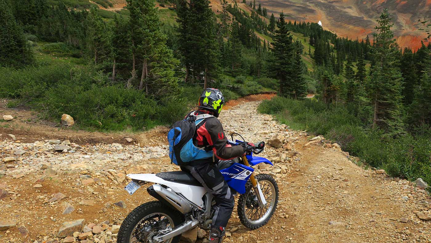 yamaha wr250r trail riding